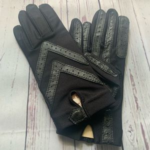 Aris Isotoner Leather Gloves